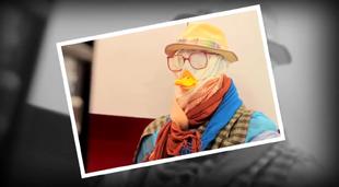 Scarfman+doing+the+duck+face
