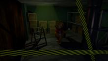 Pooh in Storage Room