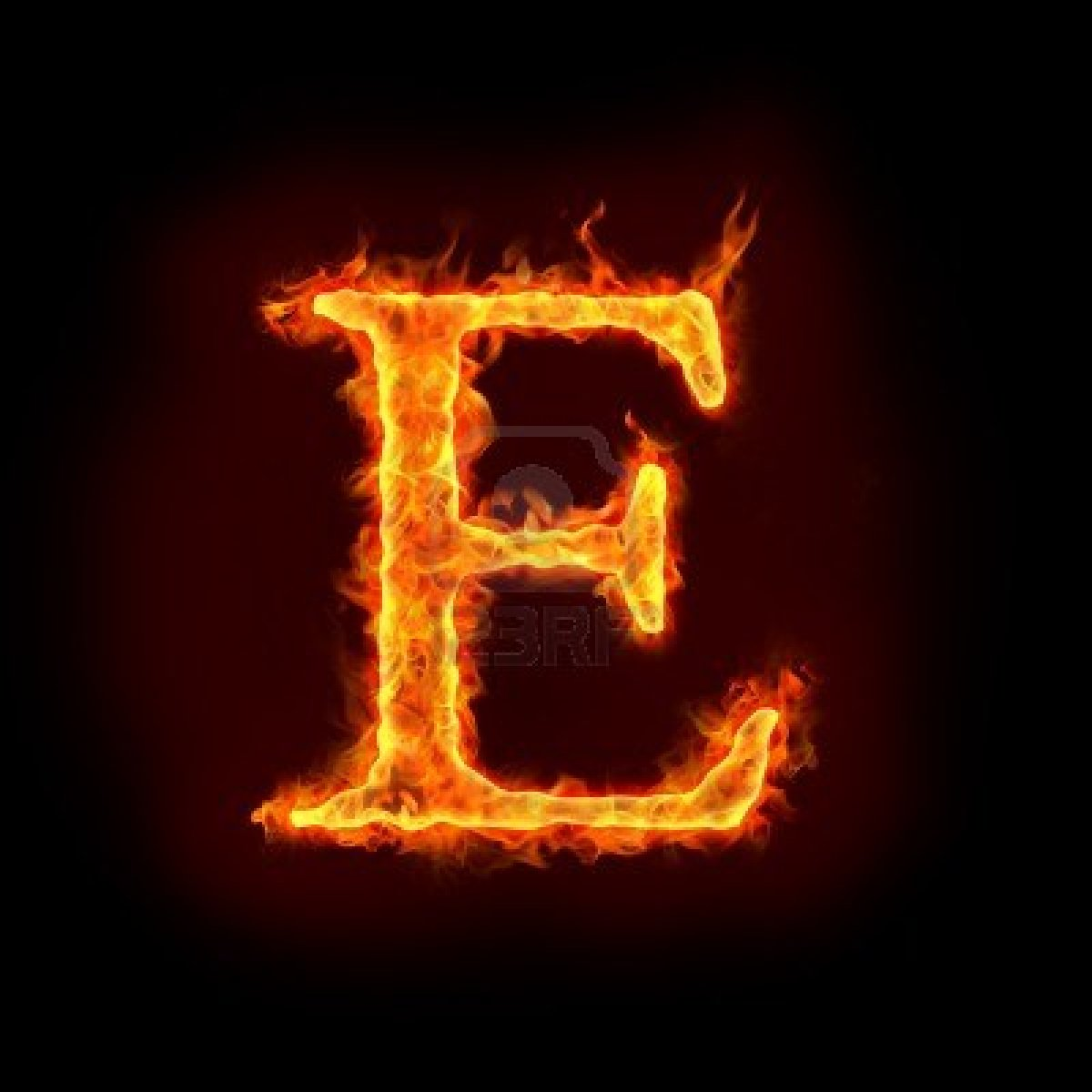 10232901 Fire Alphabets In Flame Letter E