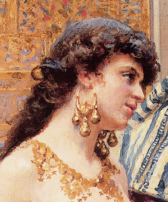 Picking the Favourite (detail) by Giulio Rosati-2