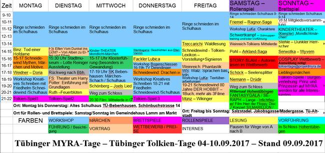 TolkienTage-Zeitplan