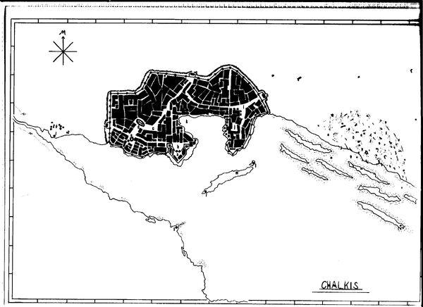Chalkis Stadt Plan