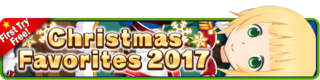 Christmas Favorites 2017 Gacha banner