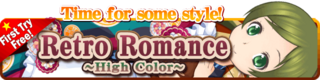Retro Romance ~High Color~ Gacha Banner