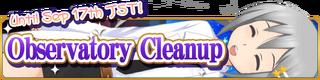 Observatory Cleanup Banner