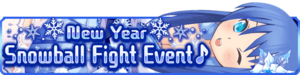 New Year Snowball Fight Event banner