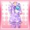 Kitten Pajamas Purple