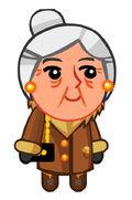 Customer Lady Goldwoman