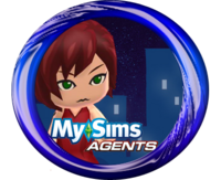 MySims Agents Vic Vector Button