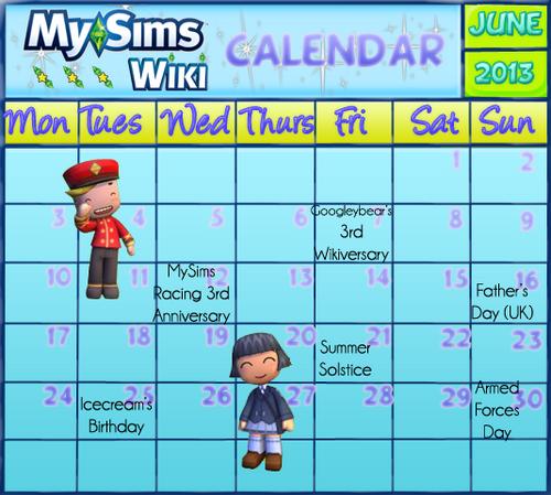 June Calendar 2013