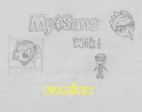 MySims Wiki Comic Logo
