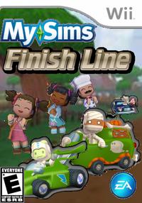 MySims Finish Line Wii Boxart