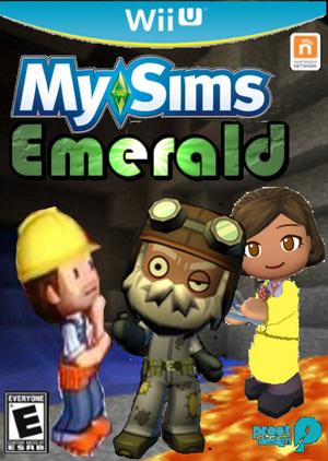 MySims Emerald (Wii U) Boxart