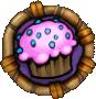 Goals cupcake icon