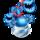 Blue Prismatic Potbelly