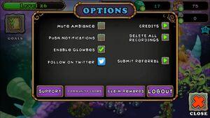 Options menu old