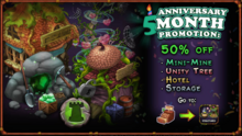 Anniversary month 2017 50% off structures mid-sept