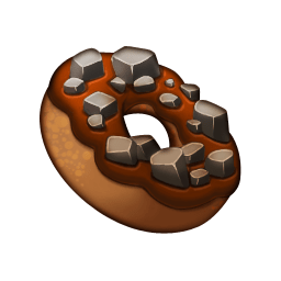 File:Crafting Item Rocky Road Donut.png