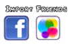 Friends Menu Import Friends Tab
