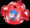 Red Prismatic Spunge