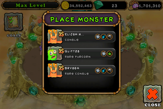 Invite new gold island monsters