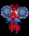 Red Prismatic PomPom