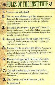 Institute rules