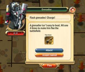 Dialogbox grenadier