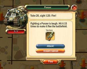Dialogbox panzer