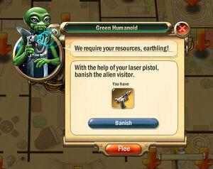 Dialogbox green-humanoid