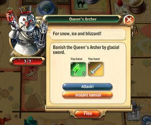 Dialogbox queens-archer