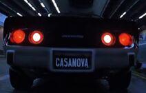 Casanova's license plate