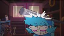 Vivi Yukino hit her head on the baseball bat