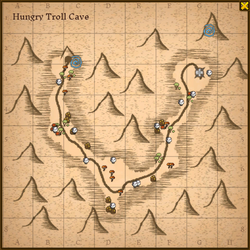 Hungry troll cave map