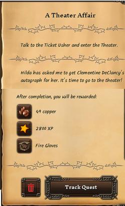 A theater affair