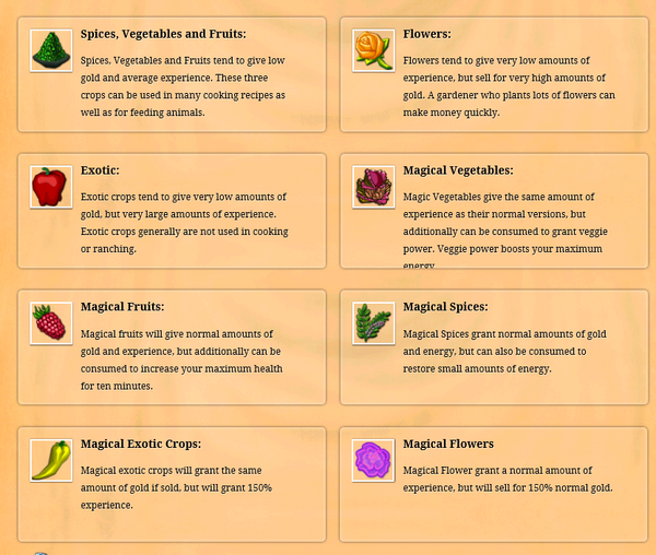 Crop types
