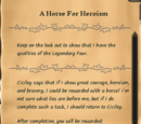 A Horse For Heroism