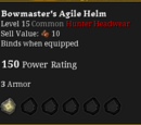 Bowmaster's Agile Helm