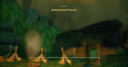 Deforested forest load