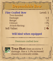 Dependable bow