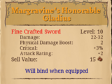 Margravine's Honorable Gladius
