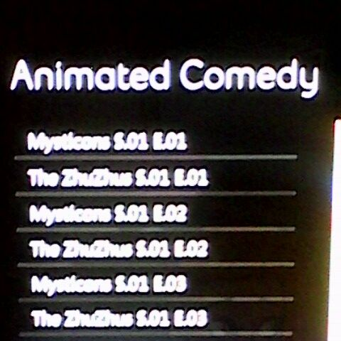 Animated Comedy's schedule