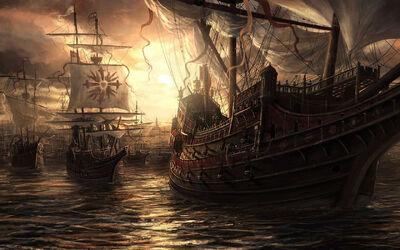 Fantasy-warship-wallpaper