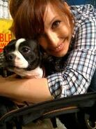 Kari and her dog Gertie