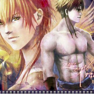 Zeus and Kratos in the 2012 calendar