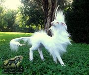 Sold hand made poseable cloud dancer unicorn by wood splitter lee-d6ez3g3