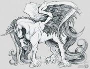 Winged unicorn by gorillagraffix-d4jyu4e