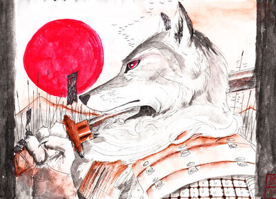 Samurai wolf by spaceweasel2306-d32jx6e