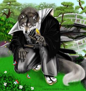 C 1229661126639 Samurai Wolf Anthro