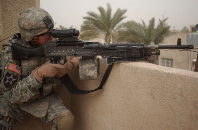 M240 with US Army soilder